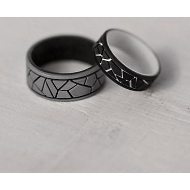 Silicone Wedding Ring.Qalo Men S Strata Dale And Amy Silicone Wedding Ring