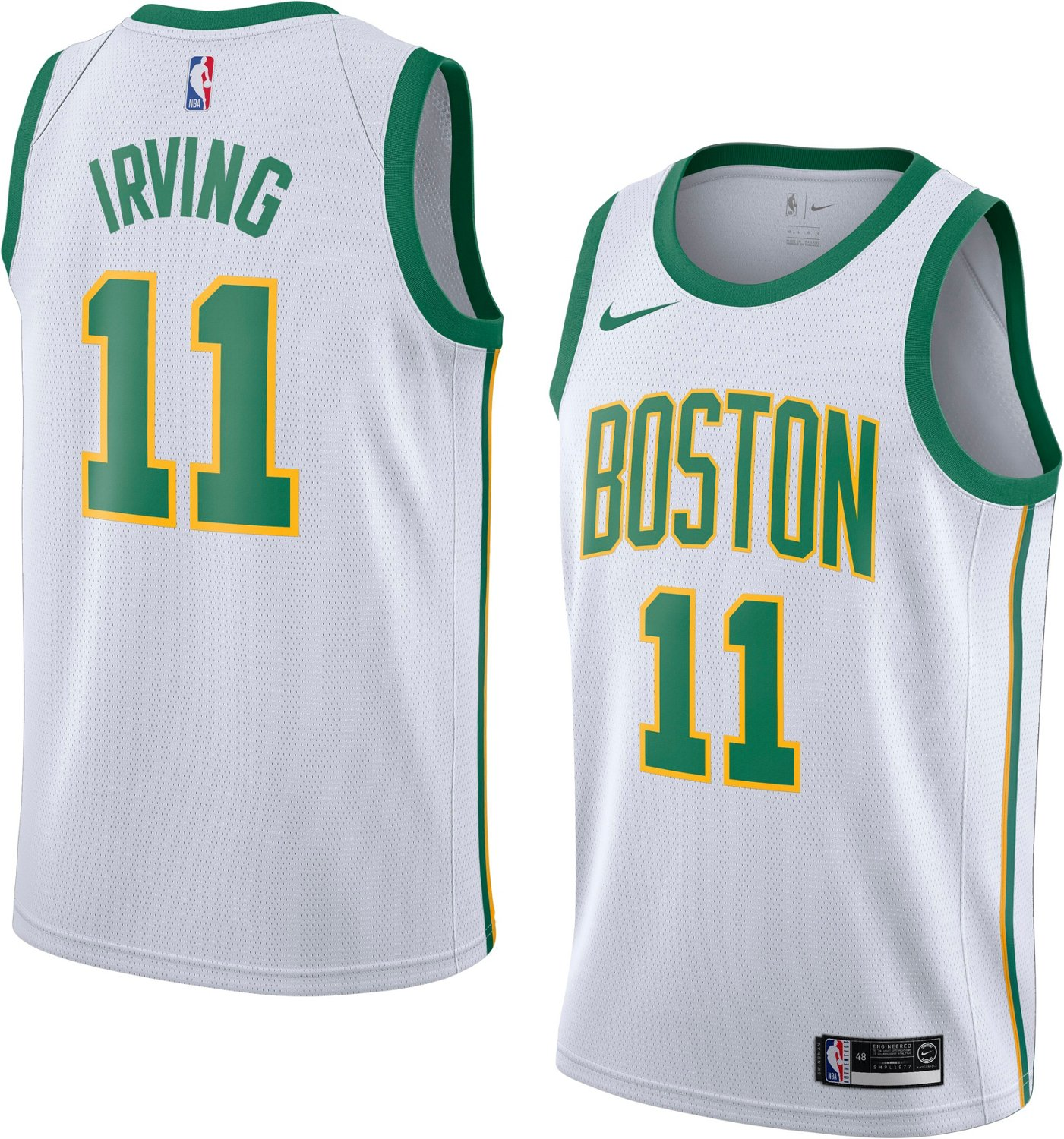 huge selection of bf357 331be Nike Men's Boston Celtics Kyrie Irving Swingman City Edition Jersey