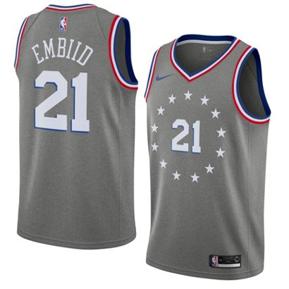 9e6ef6f1150b ... Nike Men s Philadelphia 76ers Joel Embiid Swingman City Edition Jersey.  76ers Men s Apparel. Hover Click to enlarge