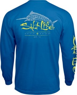Salt Life Men's Etched Marlin Pocket T-shirt