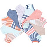 BCG Women's Striped No-Show Socks 10-Pack