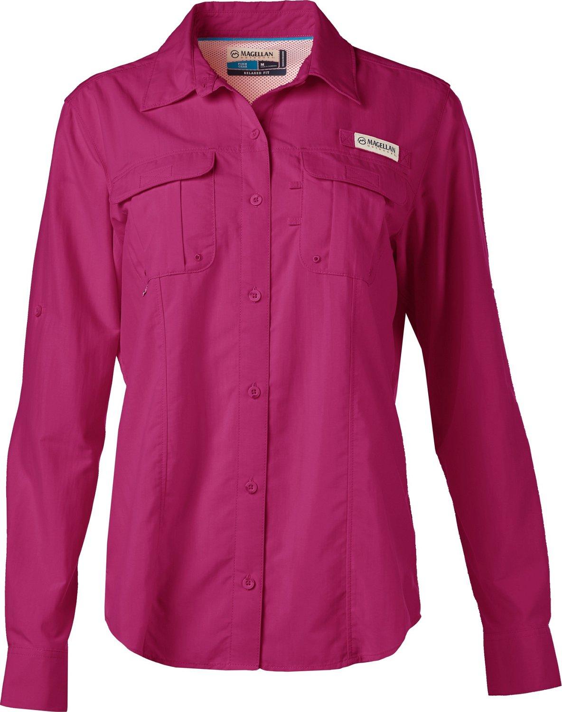 Magellan Outdoors Womens Laguna Madre Long Sleeve Shirt Academy