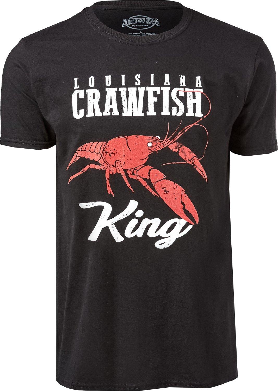 18cf32144ea7 Southern Swag Men s Louisiana Crawfish King T-shirt