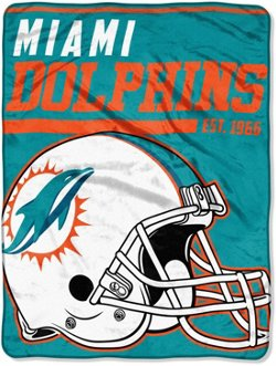The Northwest Company Miami Dolphins 40-Yard Dash Micro Raschel Throw