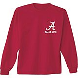New World Graphics Men s University of Alabama Living the Life Long Sleeve  T-shirt 7cddaecd9