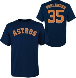 Majestic Boys' Houston Astros Justin Verlander 35 T-shirt