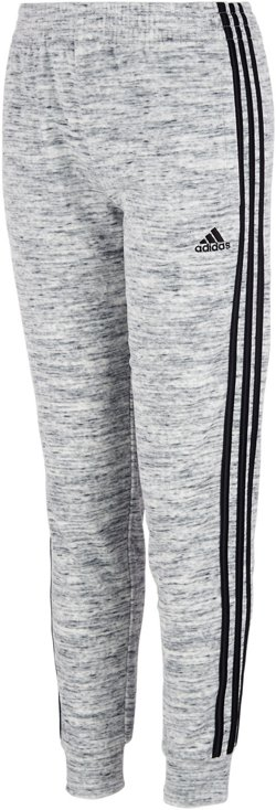 adidas Girls' Patterned Velour Jogger Pants