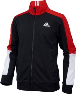 adidas Boys' 3-Stripes Tricot Track Jacket