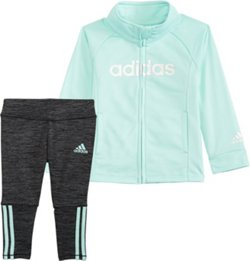 adidas Girls' 4-7 Tricot Jacket Set