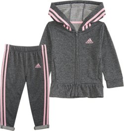 adidas Girls' 4-7 Sparkle French Terry Jacket Set