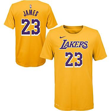 on sale b01d7 0fe9c Nike Boys' Los Angeles Lakers LeBron James 23 Icon T-shirt