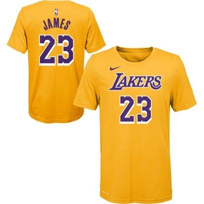 e92ad178662 ... Nike Boys  Los Angeles Lakers LeBron James 23 Icon T-shirt. LA Lakers  Men s Apparel. Hover Click to enlarge