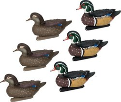 Flextone Life-Size Wood Duck Decoys 6-Pack