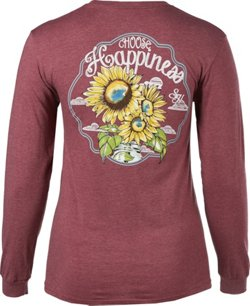 Southern Heritage Women's Choose Happiness Long Sleeve T-shirt