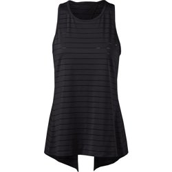 Women's Tie Back Jacquard Stripe Tank Top