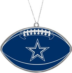 Forever Collectibles Dallas Cowboys Flat Metal Ball Ornament