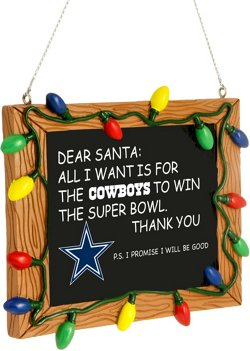 Forever Collectibles Dallas Cowboys Chalkboard Sign Ornament