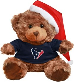 Forever Collectibles Men's Houston Texans Bear with Santa Hat