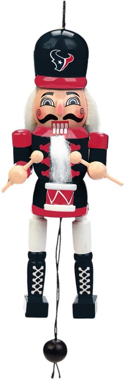 Forever Collectibles Houston Texans Pull-String Wooden Nutcracker Ornament