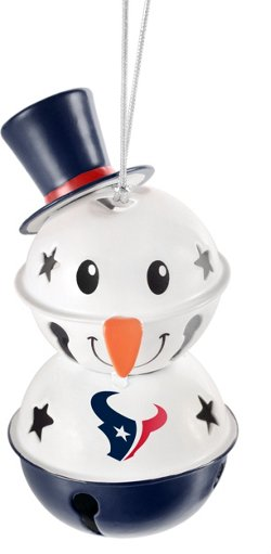 Forever Collectibles Houston Texans Snowman Bell Ornament