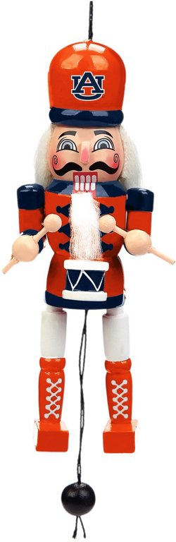 Forever Collectibles Auburn University Pull-String Wooden Nutcracker Ornament