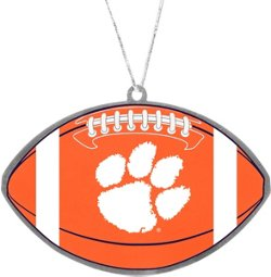 Forever Collectibles Clemson University Flat Metal Ball Ornament