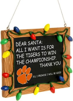 Forever Collectibles Clemson University Chalkboard Sign Ornament