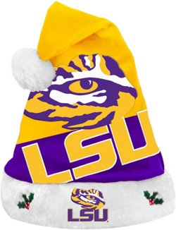Forever Collectibles Men's Louisiana State University Basic Santa Hat