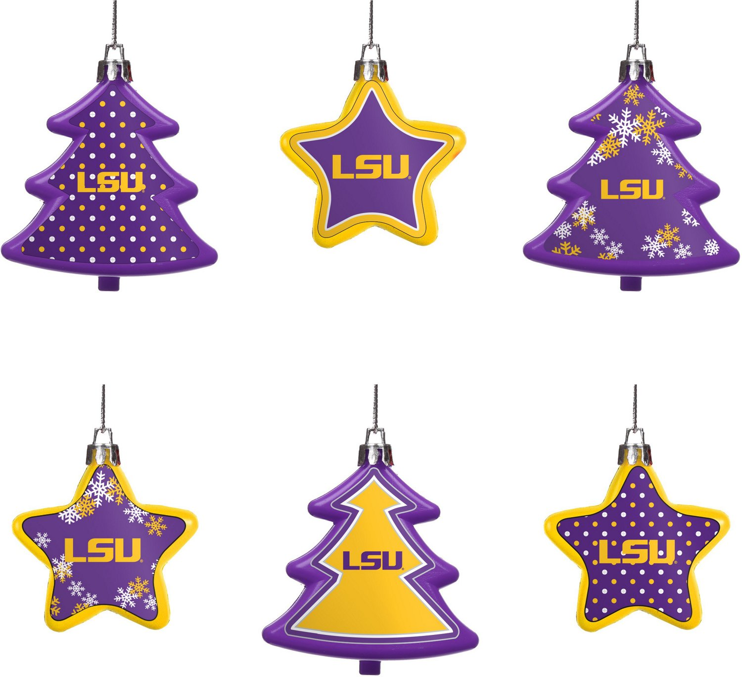 Forever Collectibles Louisiana State University 6-Piece Shatterproof ...