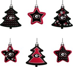 Forever Collectibles University of Georgia Shatterproof Tree and Star Ornament Set