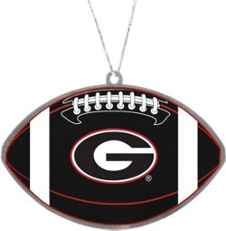 Forever Collectibles University of Georgia Flat Metal Ball Ornament