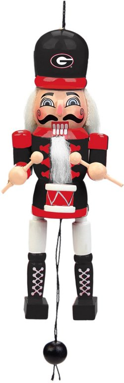 Forever Collectibles University of Georgia Pull-String Wooden Nutcracker Ornament