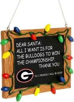 Forever Collectibles University of Georgia Chalkboard Sign Ornament