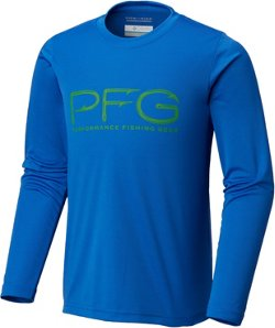Columbia Sportswear Boys' PFG Reel Adventure Long Sleeve Shirt