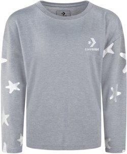 Girls' All Star Metallic Print Long Sleeve T-shirt