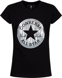 Converse Girls' Sequin Chuck Short Sleeve T-shirt