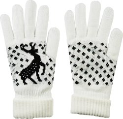 Men's Fireside Prancing Deer Gloves