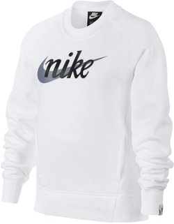 Nike Girls' Crew Neck Fleece Sweatshirt