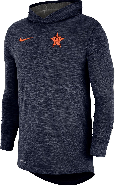 0a9f64a292f66 Nike Men s Houston Astros Dri-FIT Cotton Slub Hoodie T-shirt
