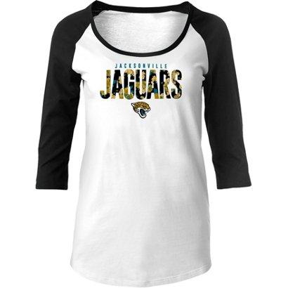 0ecaba509 New Era Women s Jacksonville Jaguars 3 4-Length-Sleeve T-shirt