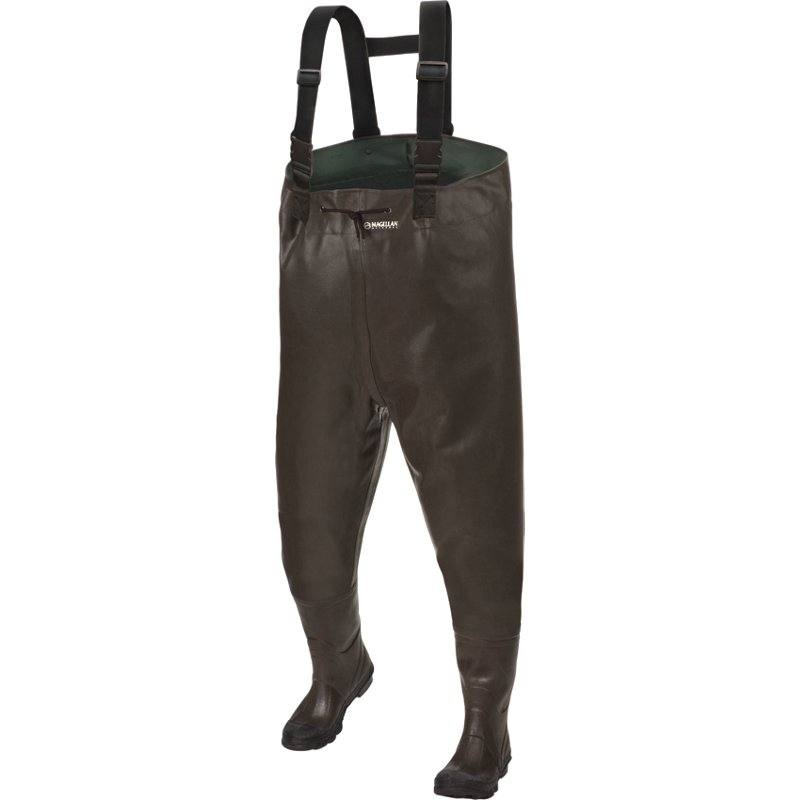 Magellan Outdoors Men's Rubber Chest Bootfoot Waders Brown, 7 – Waders at Academy Sports