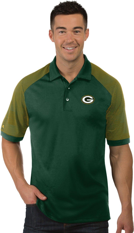 Antigua Mens Arizona Green Bay Packers Engage Polo Shirt Academy