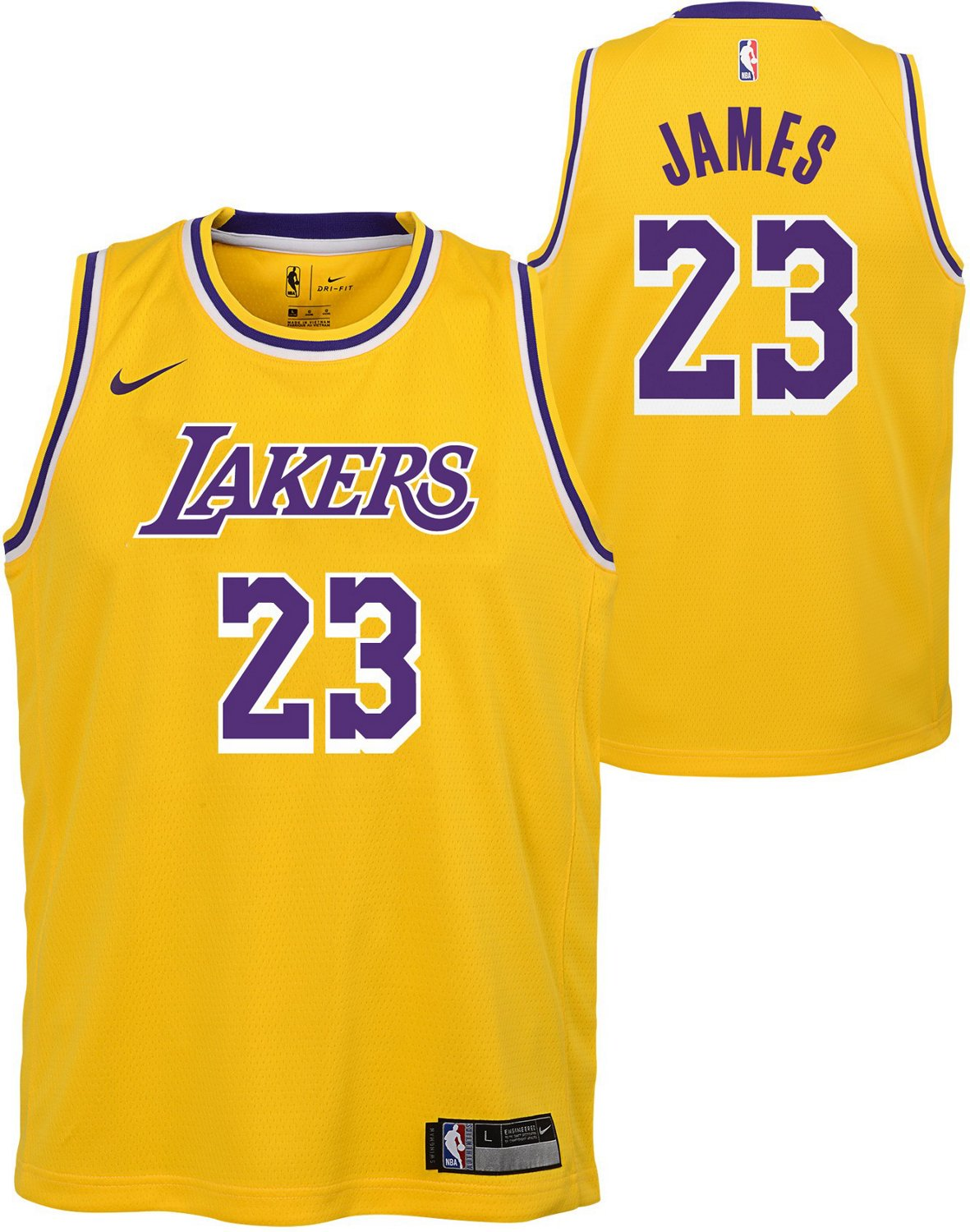 super popular 4eb7b d6aa8 NBA Boys' Los Angeles Lakers LeBron James 23 Icon Swingman Jersey