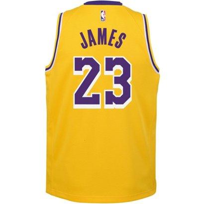 6f9aec911bf6 NBA Boys  Los Angeles Lakers LeBron James 23 Icon Swingman Jersey ...