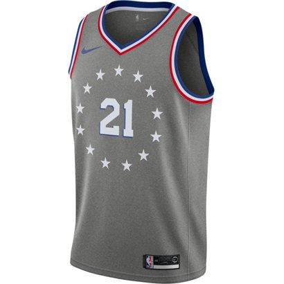 0fc9447494b3 Nike Men s Philadelphia 76ers Joel Embiid Swingman City Edition Jersey