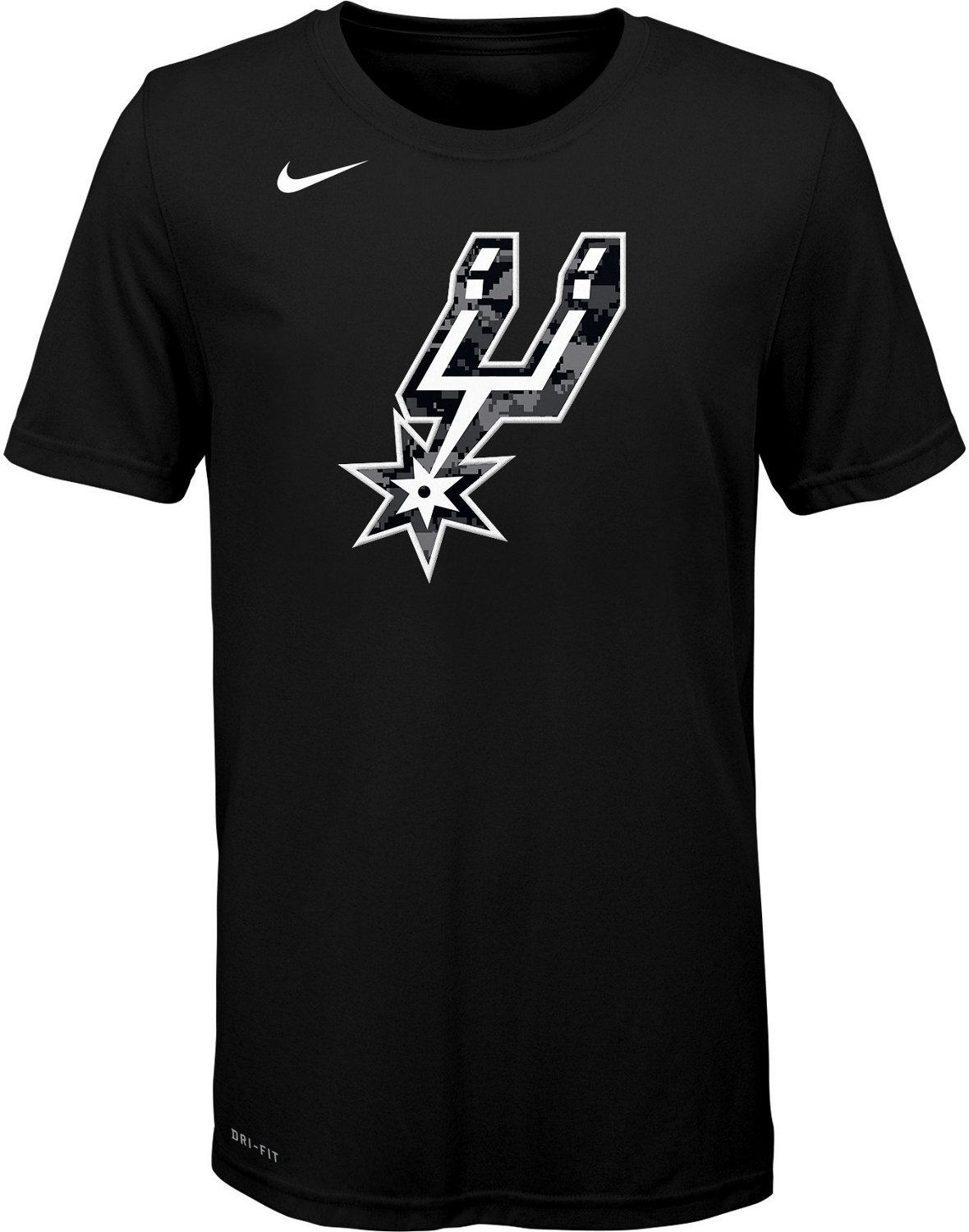 51d7609a3d839 Display product reviews for Nike Boys' San Antonio Spurs City Edition Logo T -shirt