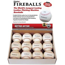 Fireballs Leather Pitching Machine Baseballs 12-Pack