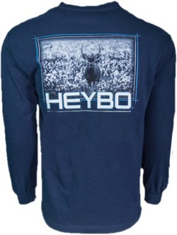 Heybo Men's Deer in Cotton Long Sleeve T-shirt