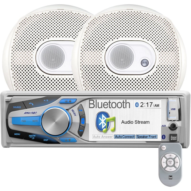 Dual Marine CD Receiver with Bluetooth and 3-Way 6.5 in Speakers - Marine Electronics And Radios at Academy Sports