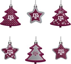 Forever Collectibles Texas A&M University Shatterproof Tree and Star Ornament Set